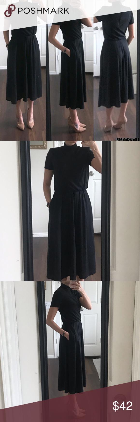 Positive Attitude Vintage Black Turtleneck Dress Turtle Neck Dress Positive Attitude Dress Vintage Dresses [ 1740 x 580 Pixel ]