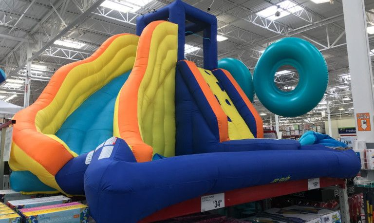 Sold Out! Splash and Slide Inflatable Water Slide, Just