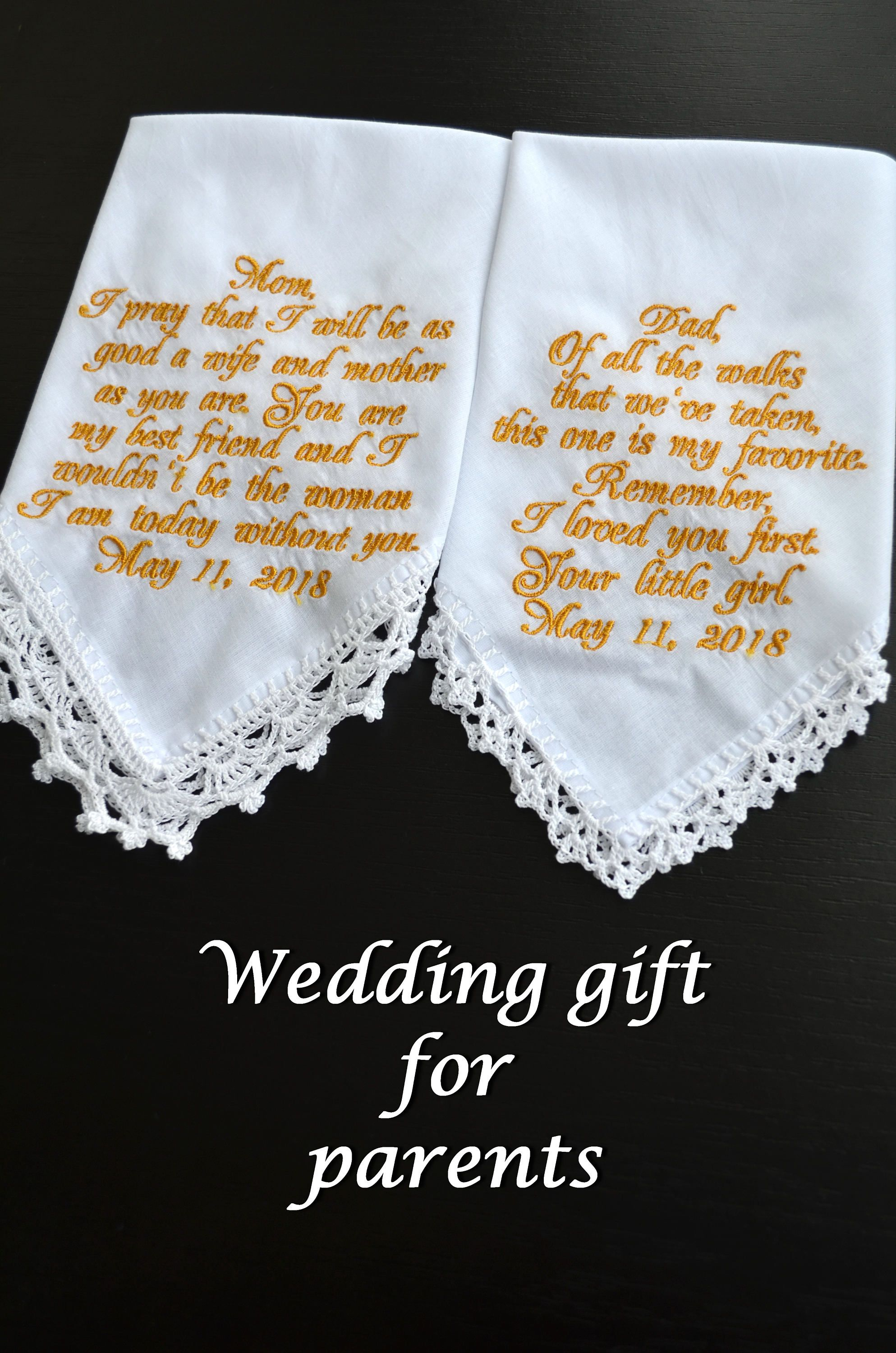 Mother Of The Bride Gift For Mother Embroidered Personalized Wedding