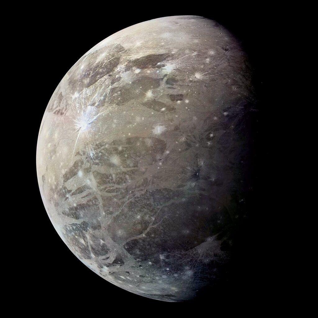 Ganímedes, luna de Júpiter | Planetas, Sistema solar, Luna