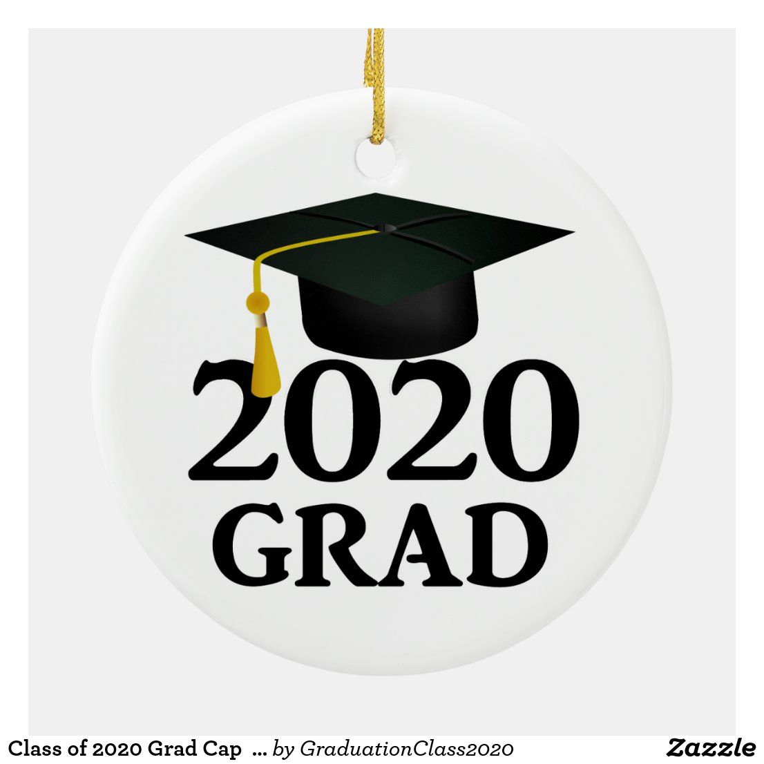 Class of 2020 Grad Cap (Add a Photo) Ceramic Ornament
