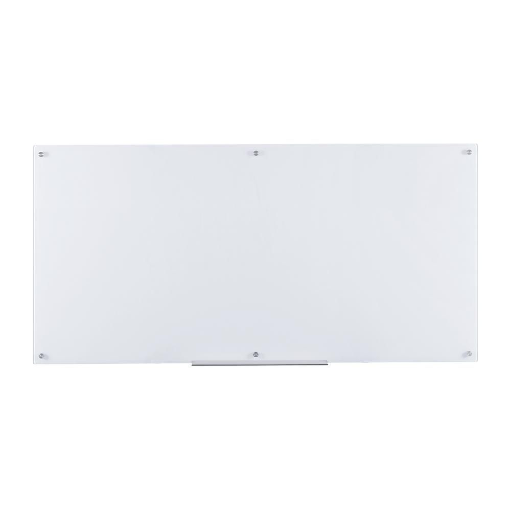 Furinno Eddington 36 In X 72 In Glass Dry Erase Board With Marker Tray In White Fgb3672w The Home Depot In 2021 Glass Dry Erase Board Furinno Glass Dry Erase