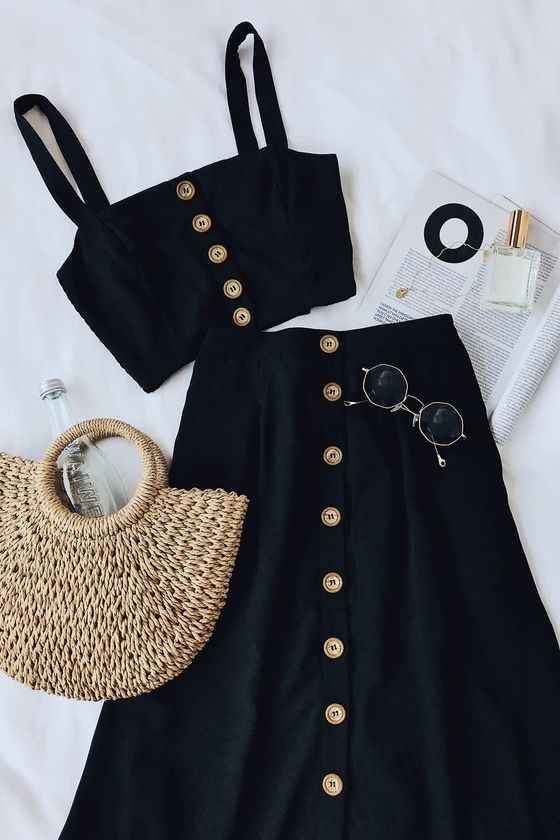 Photo of Sweet as Ever Black Two-Piece Midi Dress