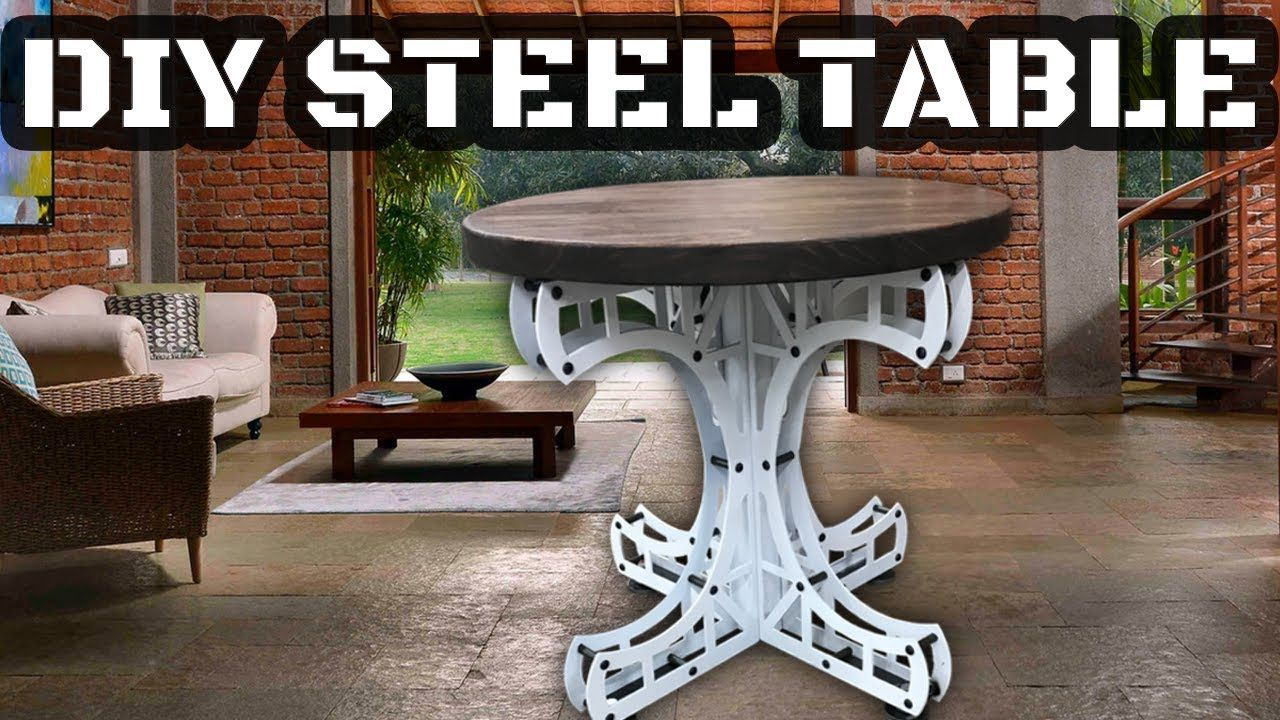 Checkout This Industrial Style Steel And Wood End Table Or Side Table I Sell These As A Diy Kit That Can B Made Coffee Table Industrial Decor Diy Steel Table