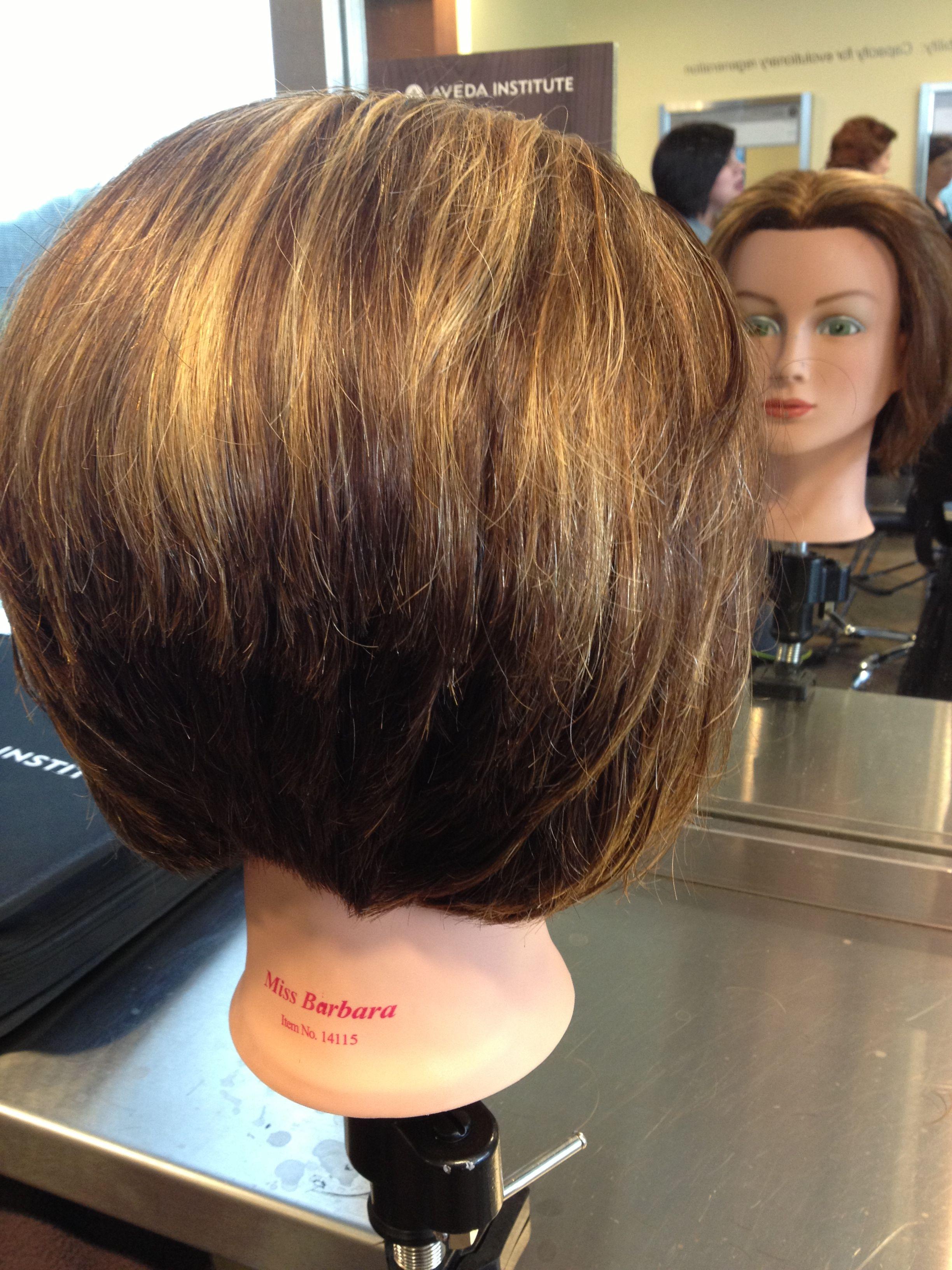 45 to natural graduation haircut with partial highlights | Hair highlights, Graduation ...