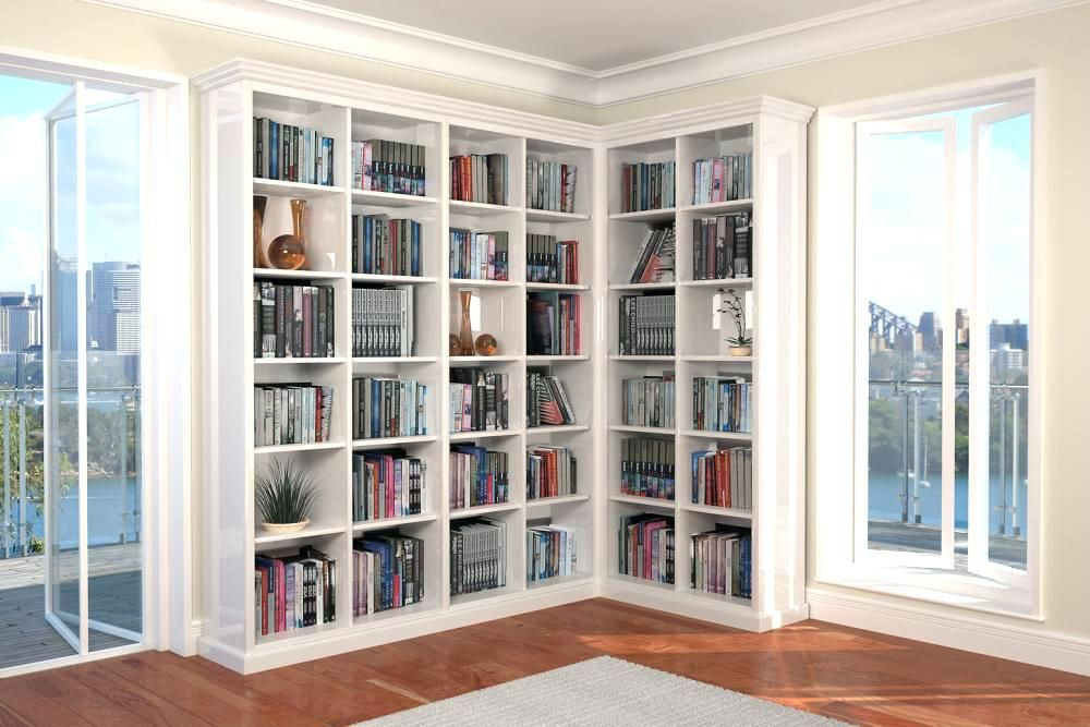 L Shaped Bookcase Image Of Corner Bookshelf White House Shelves Trends Design Home