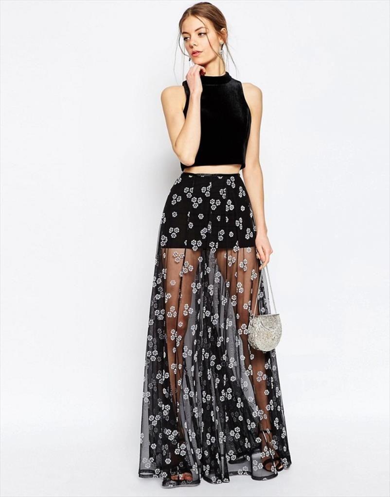 2b676ac5e maxifalda   No 5 en 2019   Falda larga transparente, Vestidos ...
