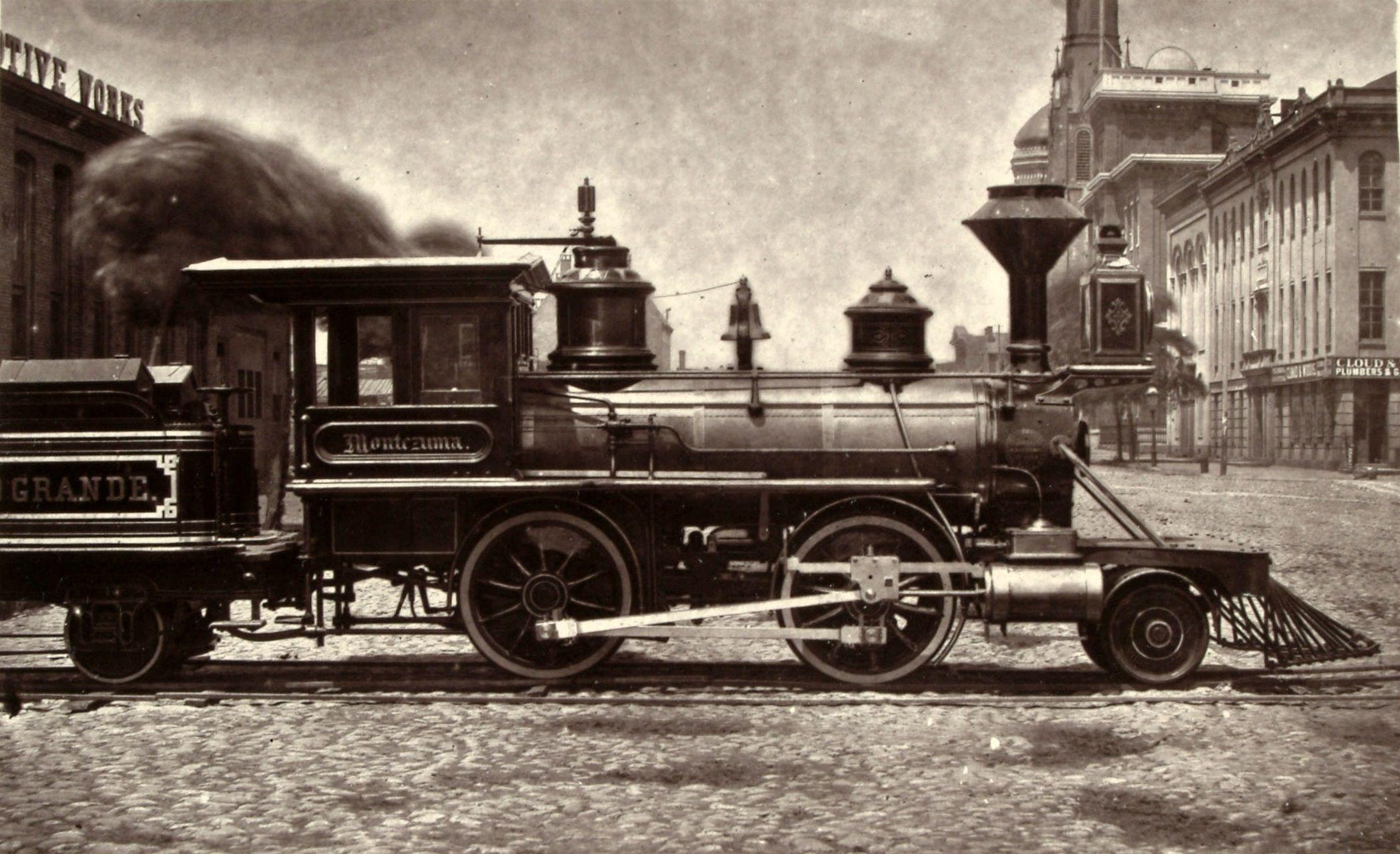 Baldwin's Montezuma, 1871, The first locomotive built for the Denver & Rio Grande.
