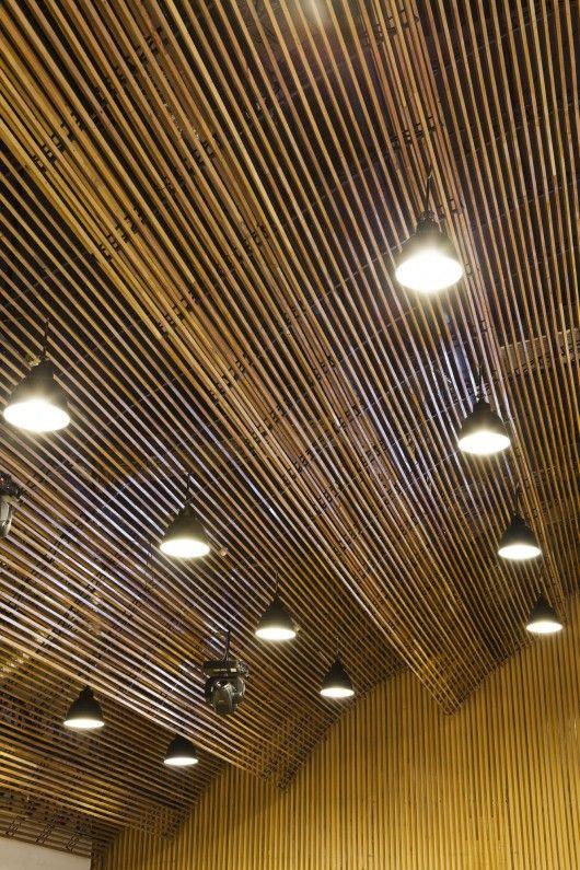 Hiroyuki Oki Bamboo Ceiling Bamboo Architecture Roof Design