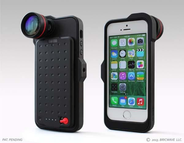 promo code e62db b604c BRIC+] iPhone 5s Case with Backup Battery, Zoom Lens & Tripod Mount ...