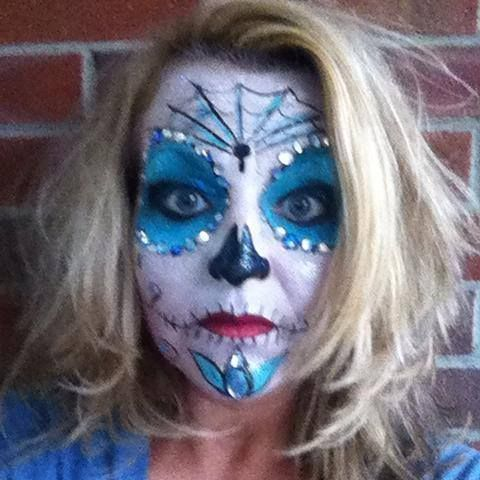 day of the dead sugar skull makeup halloween makeup rachels face painting in - Halloween Day Of The Dead Face Paint
