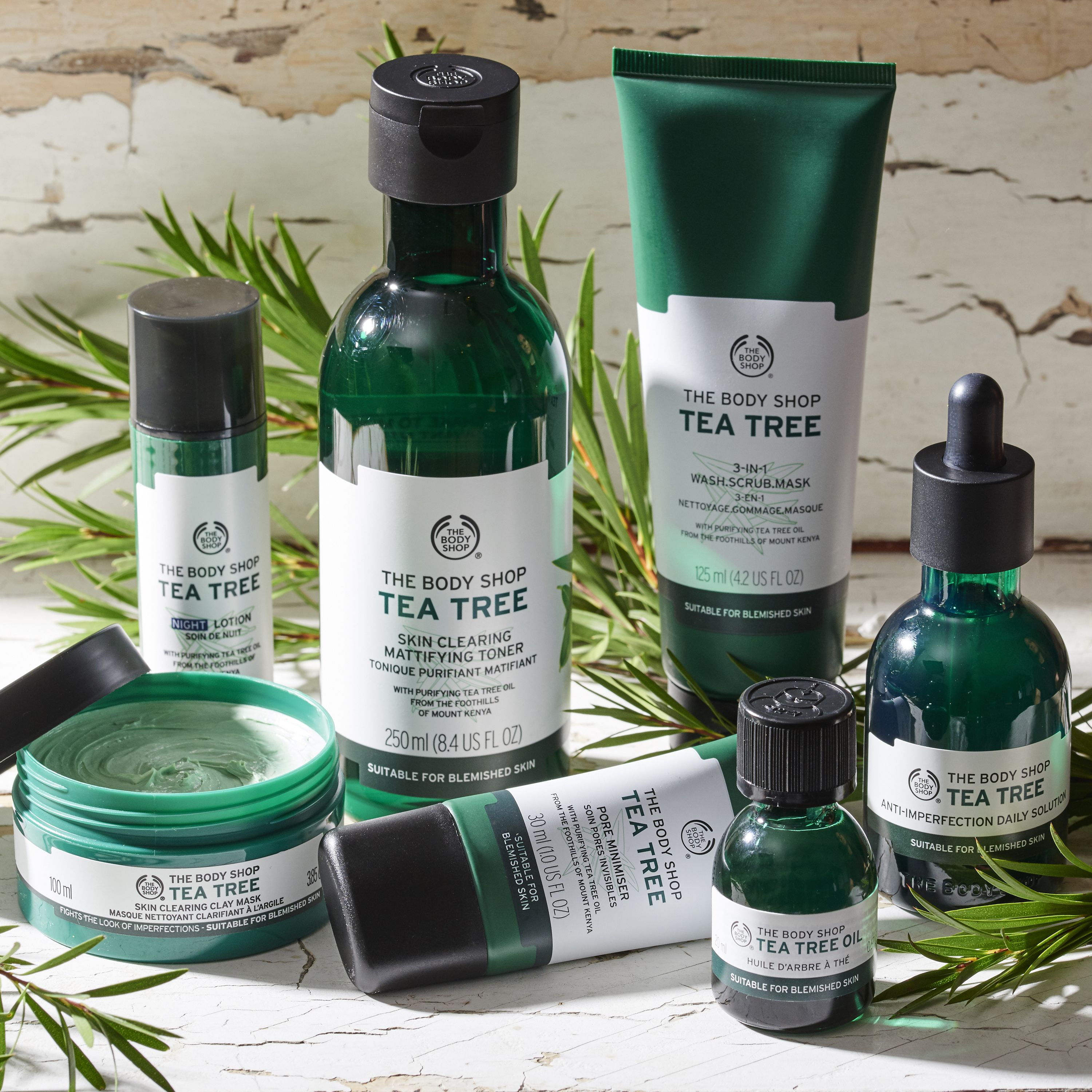Stay On It With Our Community Trade Tea Tree Range For Smooth Skin That Feels Fresh And Looks Clear Body Shop Tea Tree Body Shop Skincare The Body Shop