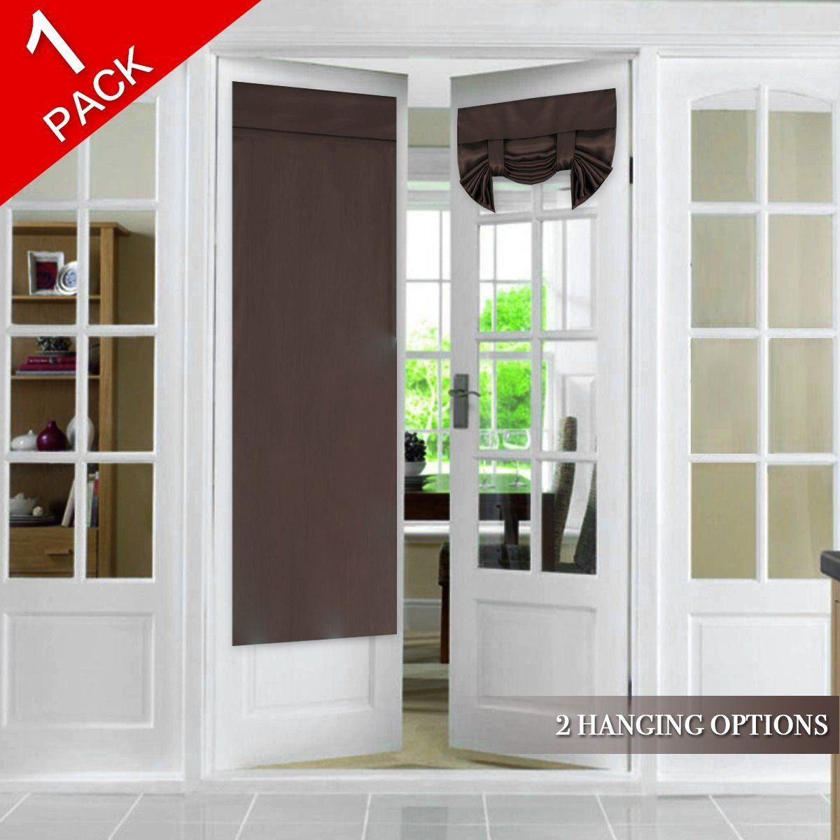 Tricia Window Door Curtain French Door Curtain Panel Rod Pocket Blackout Drapes For Patio Door Gla In 2020 Door Curtains French Door Curtains Brown Blackout Curtains