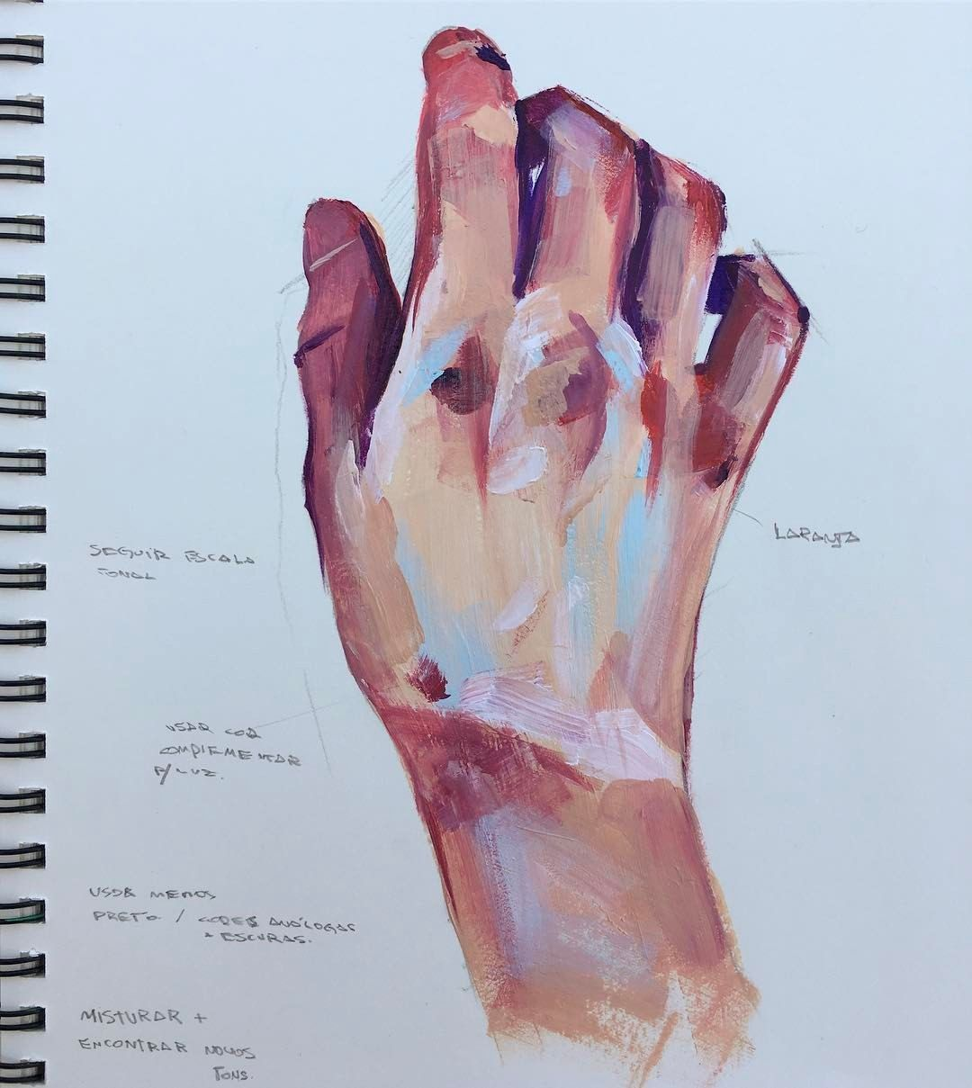 """Lucas Paulucci on Instagram: """"Simplification study with acrylic paint lucaspaulucci lucaspaulucciart sketchbook study sketch hand painting acrilica… ...#acrilica #acrylic #hand #instagram #lucas #lucaspaulucci #lucaspaulucciart #paint #painting #paulucci #simplification #sketch #sketchbook #study"""