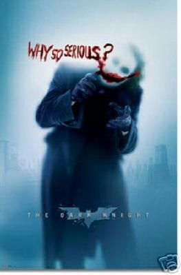 Cool New Batman dark knight why so serious Poster Free Shipping
