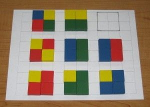 "Playing with Color Tiles & Cubes ""We've enjoyed lots of"