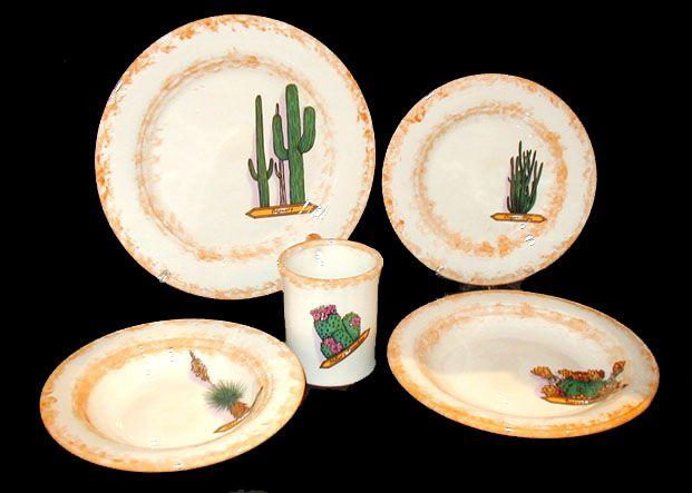 southwestern dinnerware | Cactus Southwestern Dinnerware  sc 1 st  Pinterest & southwestern dinnerware | Cactus Southwestern Dinnerware | Cowboy ...