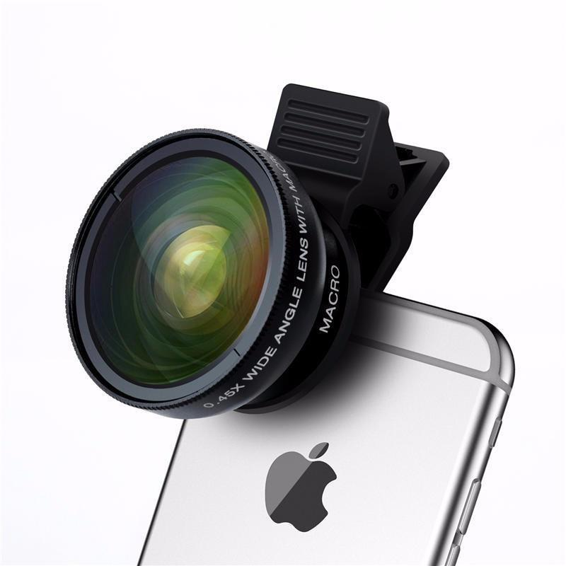 Professional 2-in-1 HD Phone Camera Lens Kit #wideangle