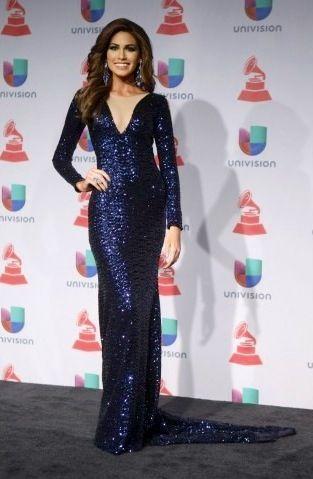 Gabriela Isler. Miss Universo 2013 en los Grammy Latinos