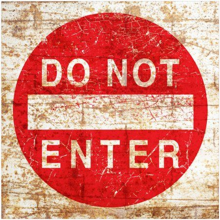 Do Not Enter Sign by Eazl Canvas Poster, Size: 12 x 12, Multicolor