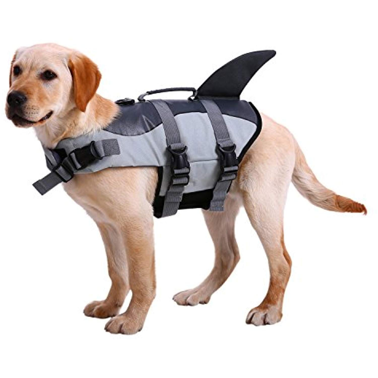 Nacoco Dog Life Jacket Shark Vest Pet Swimsuit Preserver L Grey Click Image To Review More Details This Is An Affiliate Link Life Jacket Dog Life Dogs