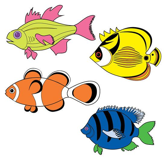 Draw Tropical Fishes Mural Drawings Fish Tropical Fish