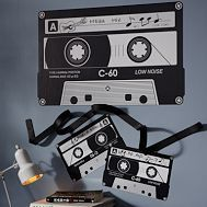 Cassette Tape Decal (Luke's wall decor, plus the color of his room)