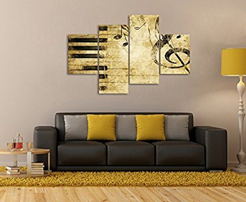 Amazon com piece painting print note and piano   keys in the paper wall art picture on canvas music artwork for living room home modern dec  also