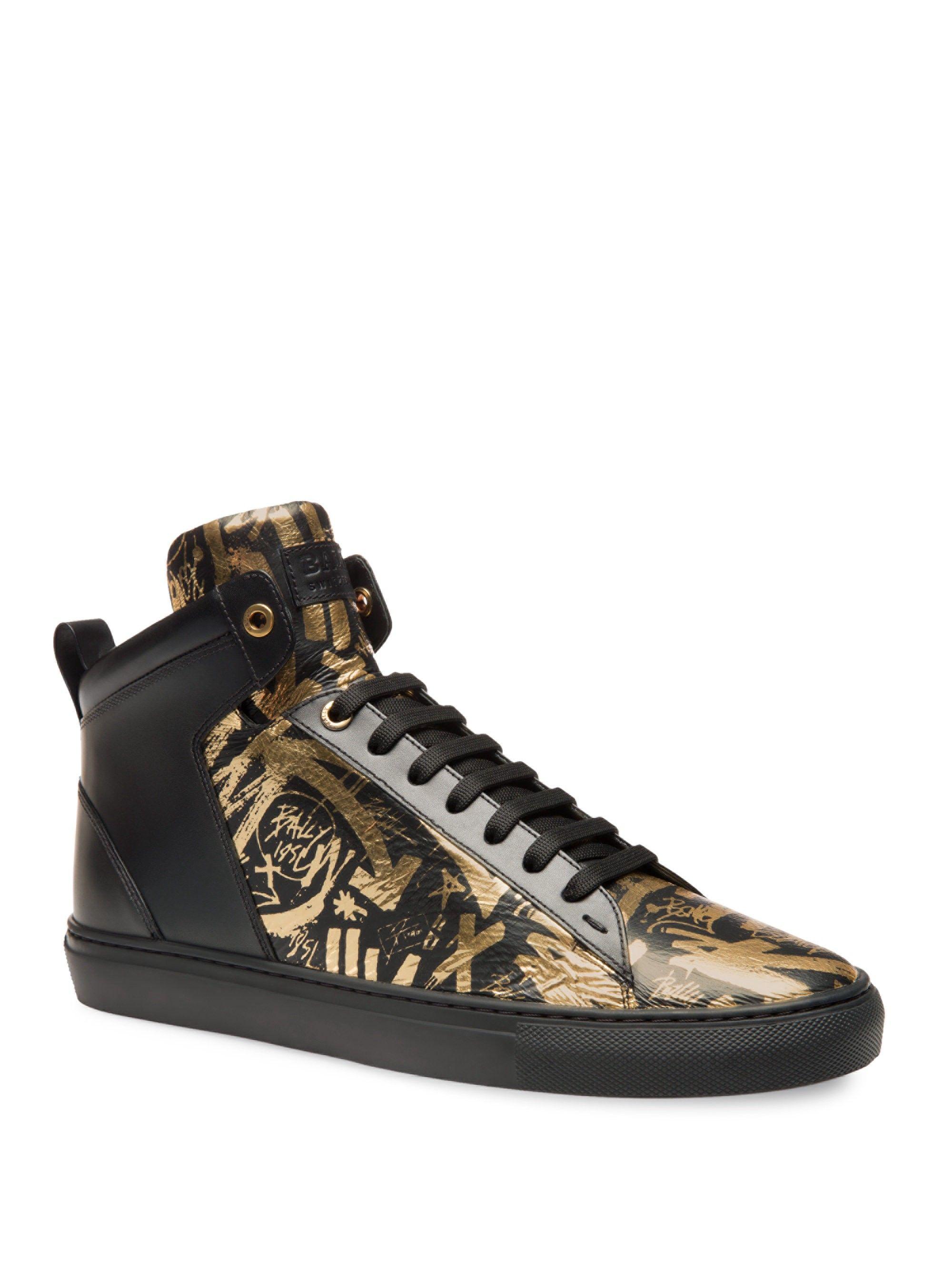 Bally Hedo Graffiti High-Top Sneakers