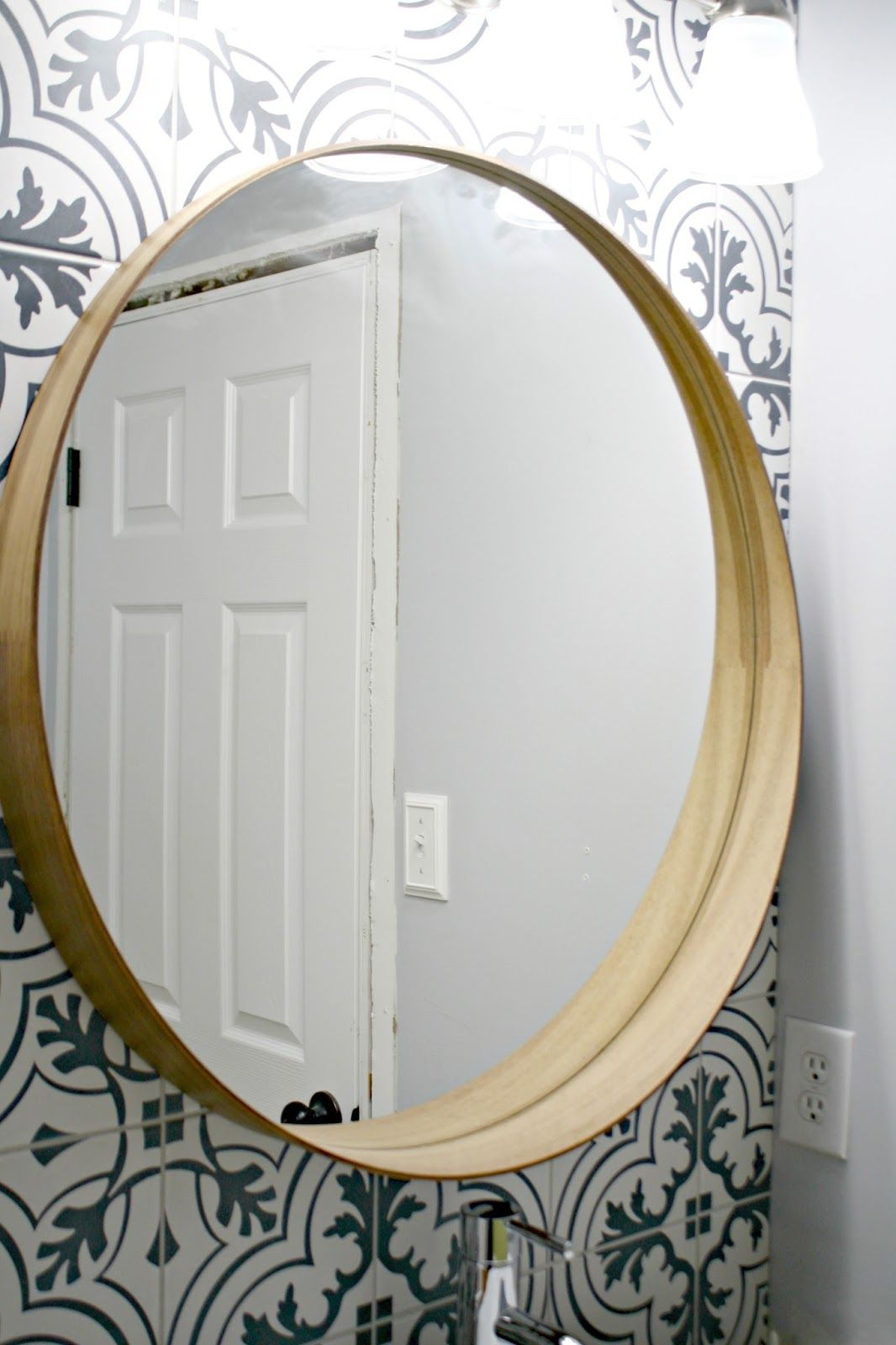 Easy Painter S Tape Trick For Hanging Art Stockholm Mirror Ikea Simple Bathroom Stockholm Mirror
