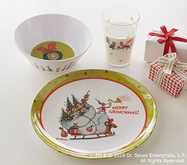 Dr. Seussu0027s The Grinch(TM) Table Top Gift Set · Christmas TabletopKids ... : kids christmas dinnerware - pezcame.com