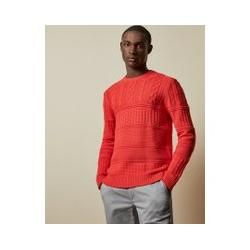 Photo of Crew-neck sweater with various knitting patterns ted baker