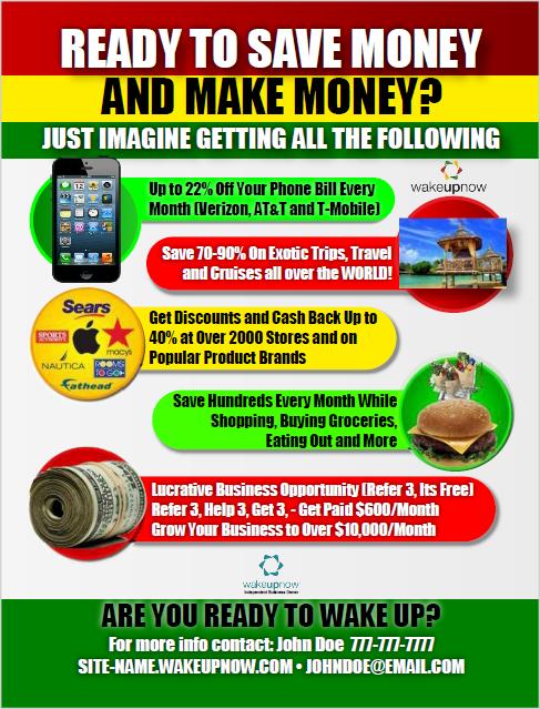 Live your life on a discount.  www.diamondwealth.wakeupnow.com