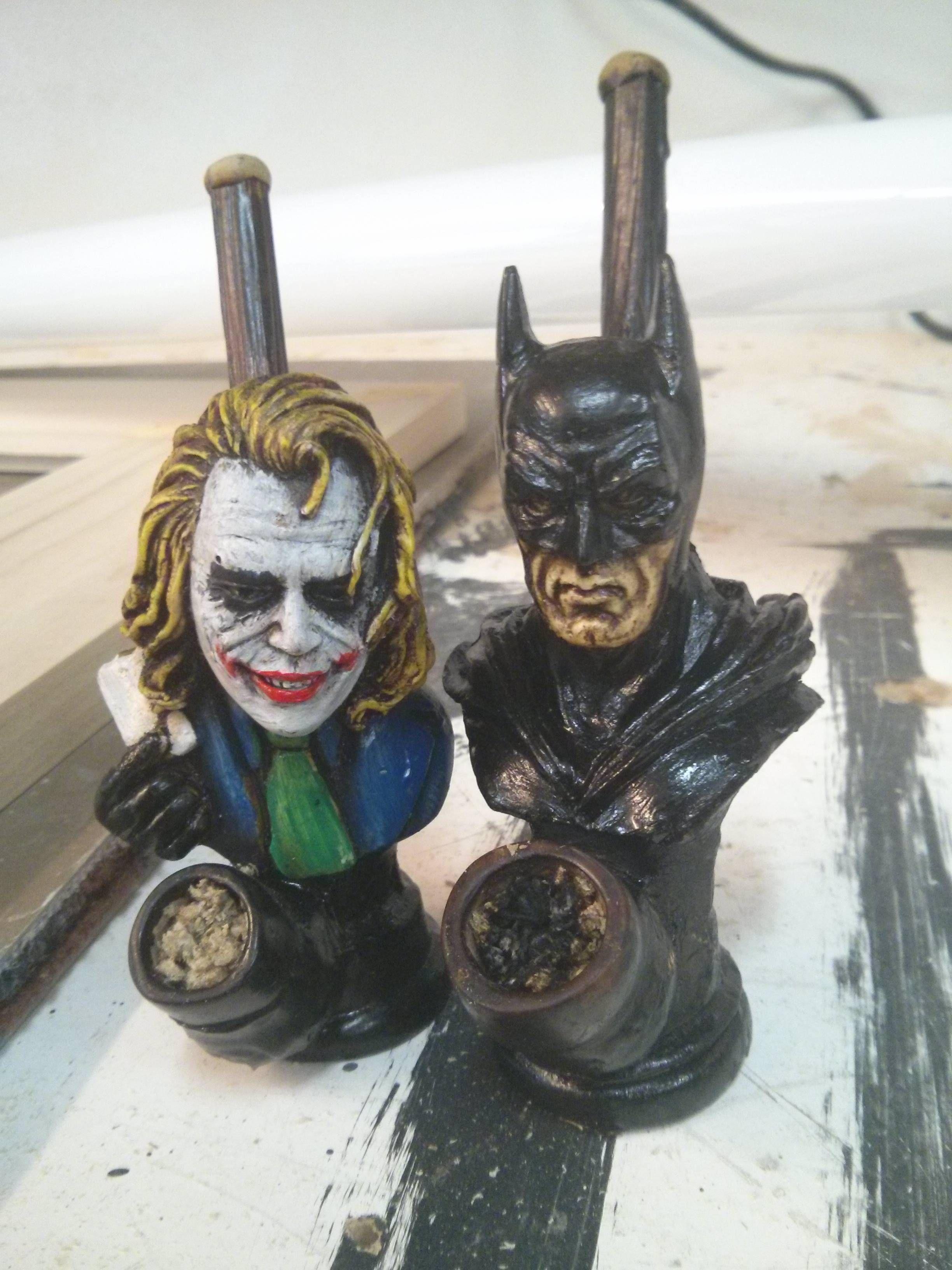 Joker and Batman ceramic smoking pipes #marijuana | Famous Tokers ...