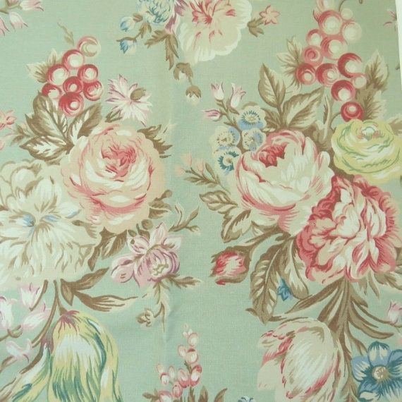Details About Garden Floral Fabric Shower Curtain With