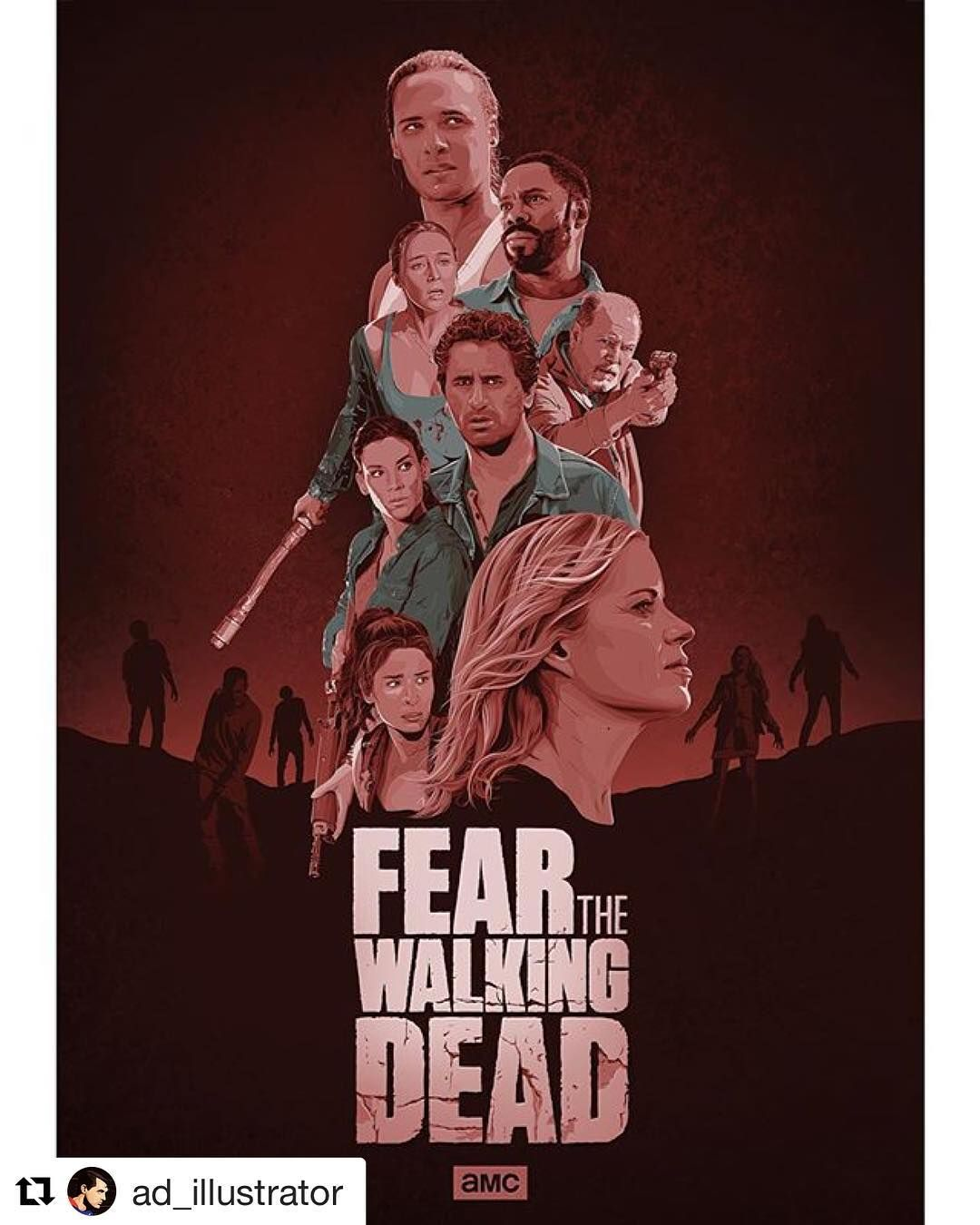 Da Um Look Nesse Poster Do Ad Illustrator Desse Spin Off Do The Walking Dead Thewalkingdead The Walking Dead Poster Fear The Walking Fear The Walking Dead