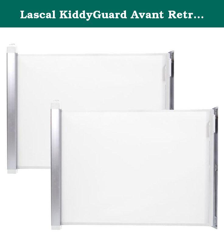 Lascal KiddyGuard Avant Retractable Child Safety Gate - White Mesh ...
