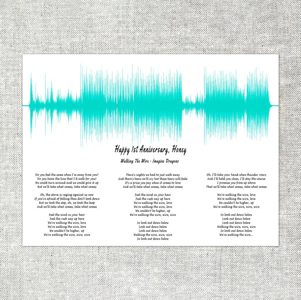 First Anniversary Gift For Her, Wedding Song With Lyrics For