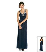 Product: City Triangles® Juniors' Navy Embellished Gown