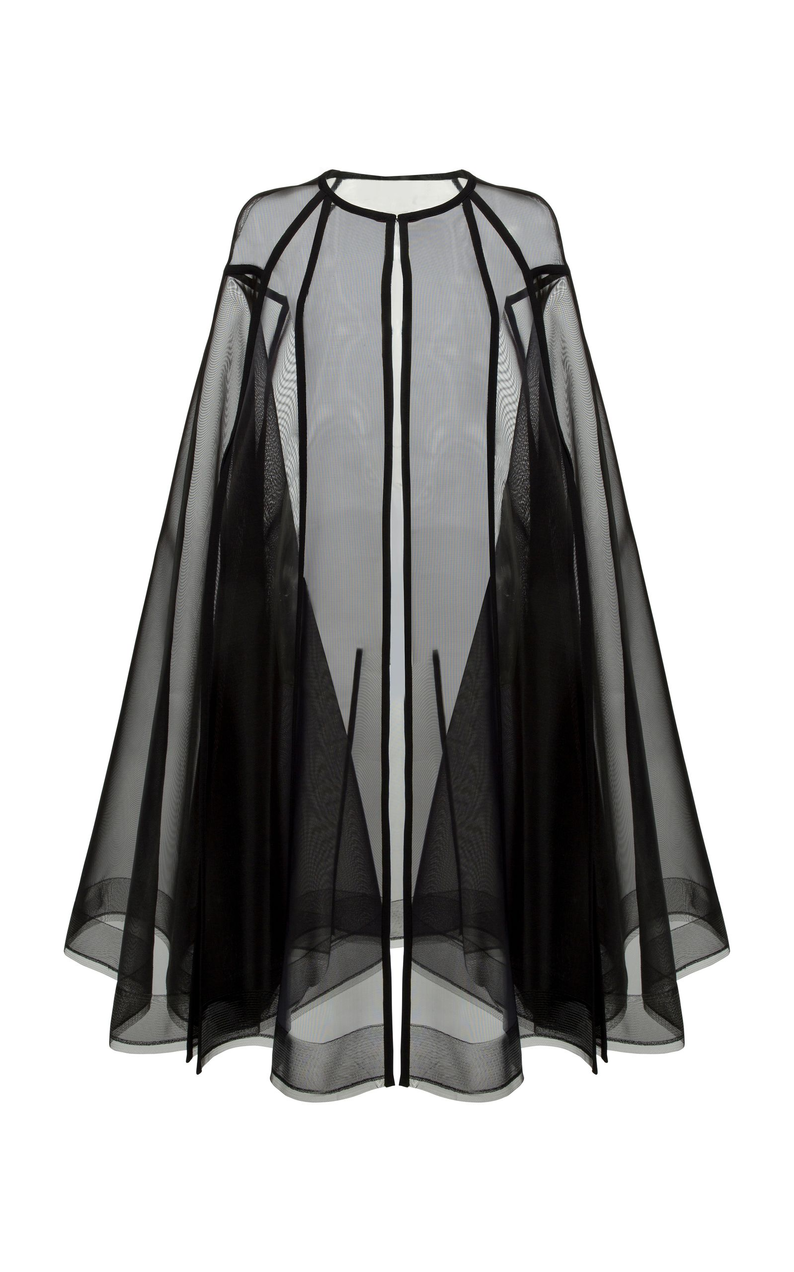Black Cloak Design Knee Length Dress