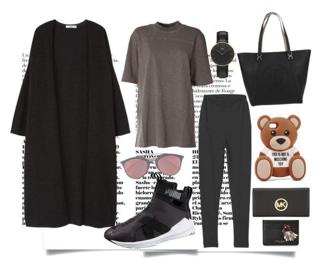 """""""24/4"""" by holkil ❤ liked on Polyvore featuring Puma, MANGO, adidas Originals, Tommy Hilfiger, Christian Dior, Moschino, Daniel Wellington, Michael Kors and Marc Jacobs"""