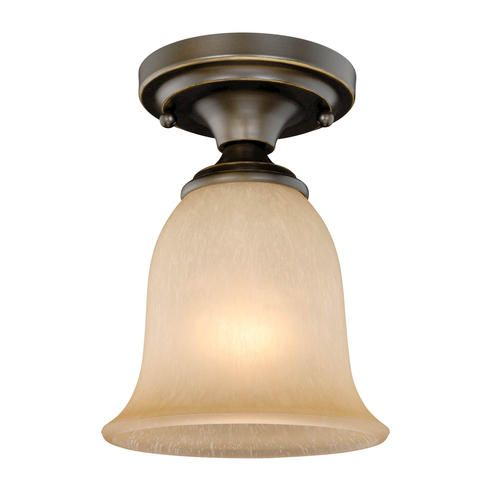 Paige 1 Light 6 Quot Oil Rubbed Bronze With Gold Accent Ceiling Light Ceiling Lights Light Accent