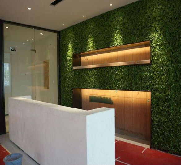 Fake artificial grass wall decor for modern wall decor