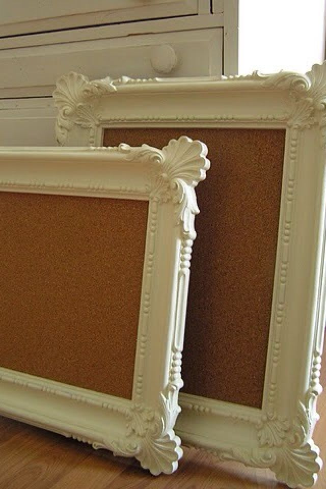 14 Creative Uses for Old Picture Frames | Cork boards, Spray ...