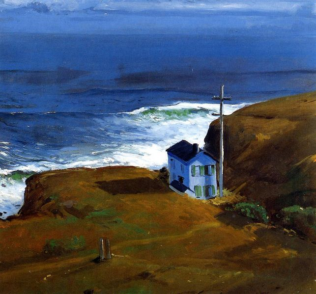 """George Bellows - """"Shore House"""" 1911...love the simplicity of it, and the isolation...strong sense of peace for those of us who like solitude..."""