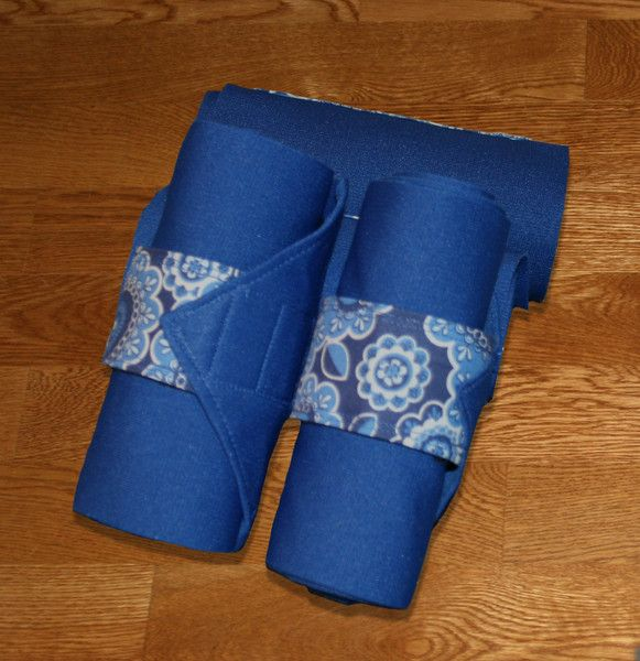Equine Standing Wraps/Royal Standing Wraps w/Blue Paisley Velcro Strap – KLM Equestrian