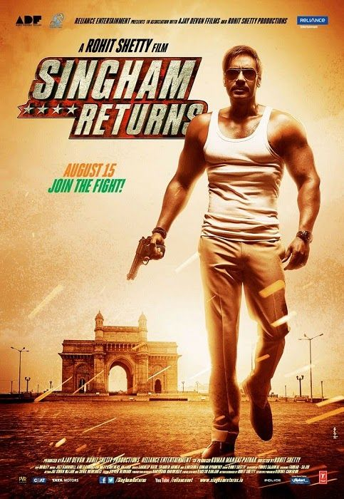 Singham Returns 2014 Hindi 720p DVDRiP 1GB | 300Mb Mkv