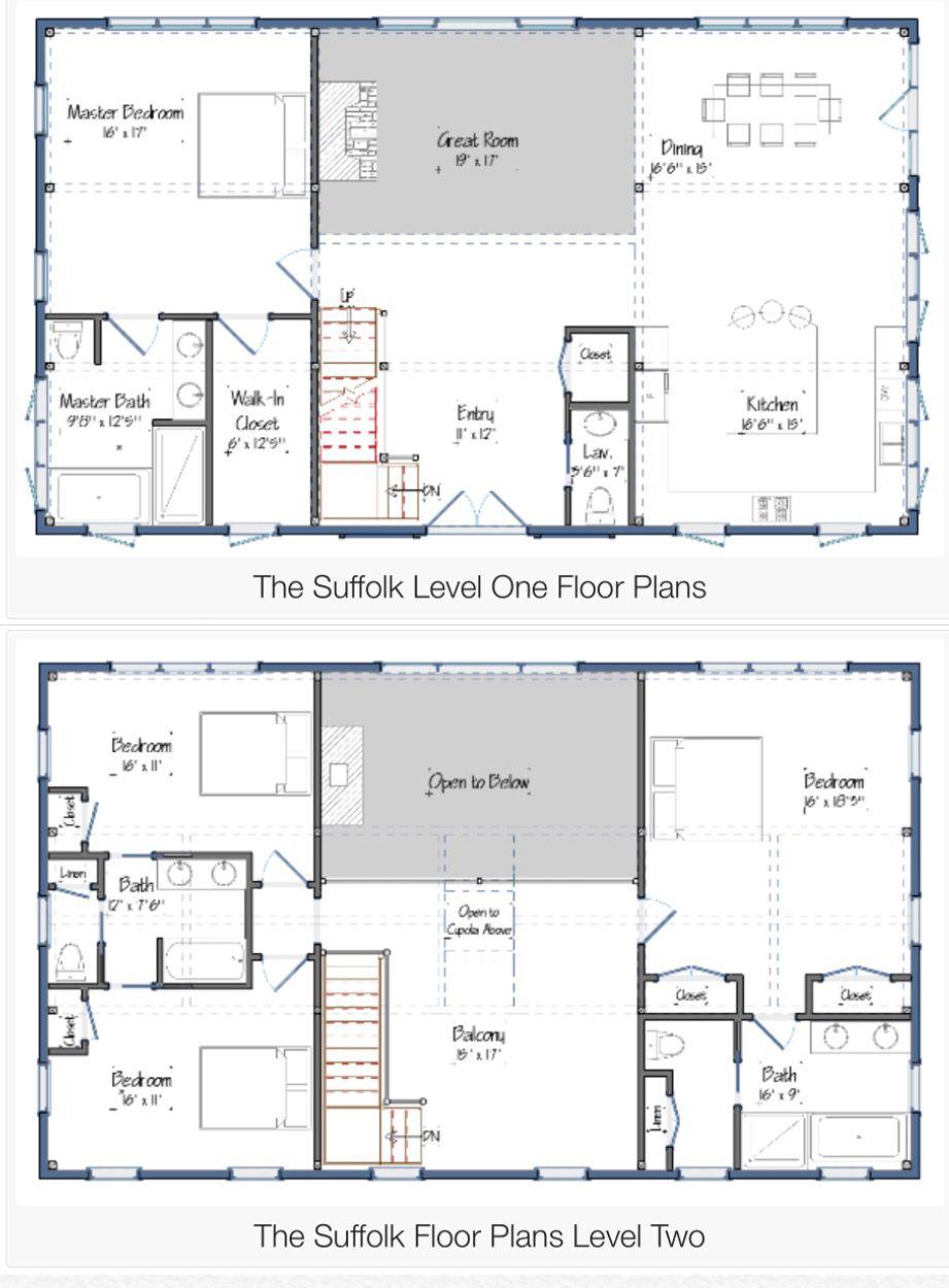 Floor Plans For The Suffolk Barn House Design Barn House Plans