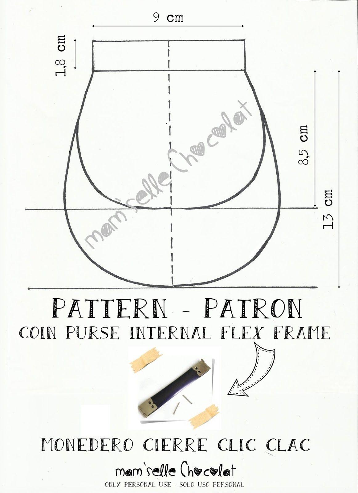 Tutorial costura Patrón monedero | Carteras, monederos | Pinterest ...