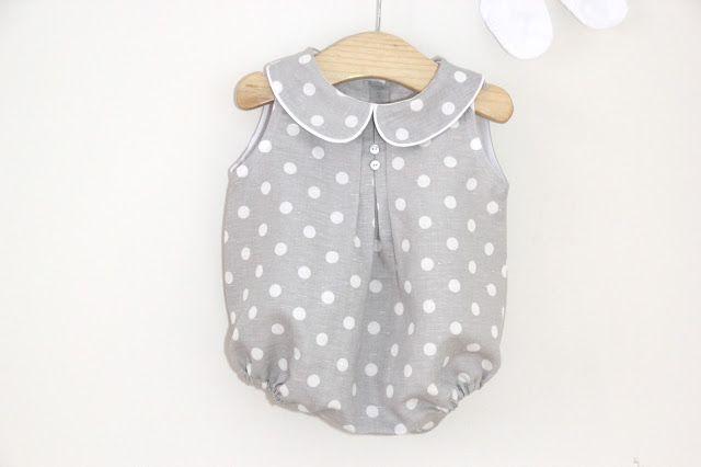 ee4e3360a Tutorial y patrones ropa para bebe: Pelele o ranita de lunares para bebe  DIY. Blog costura y blog diy